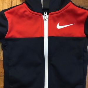 Nike Matching Sets - NIKE toddler Dri Fit track suit - red and black